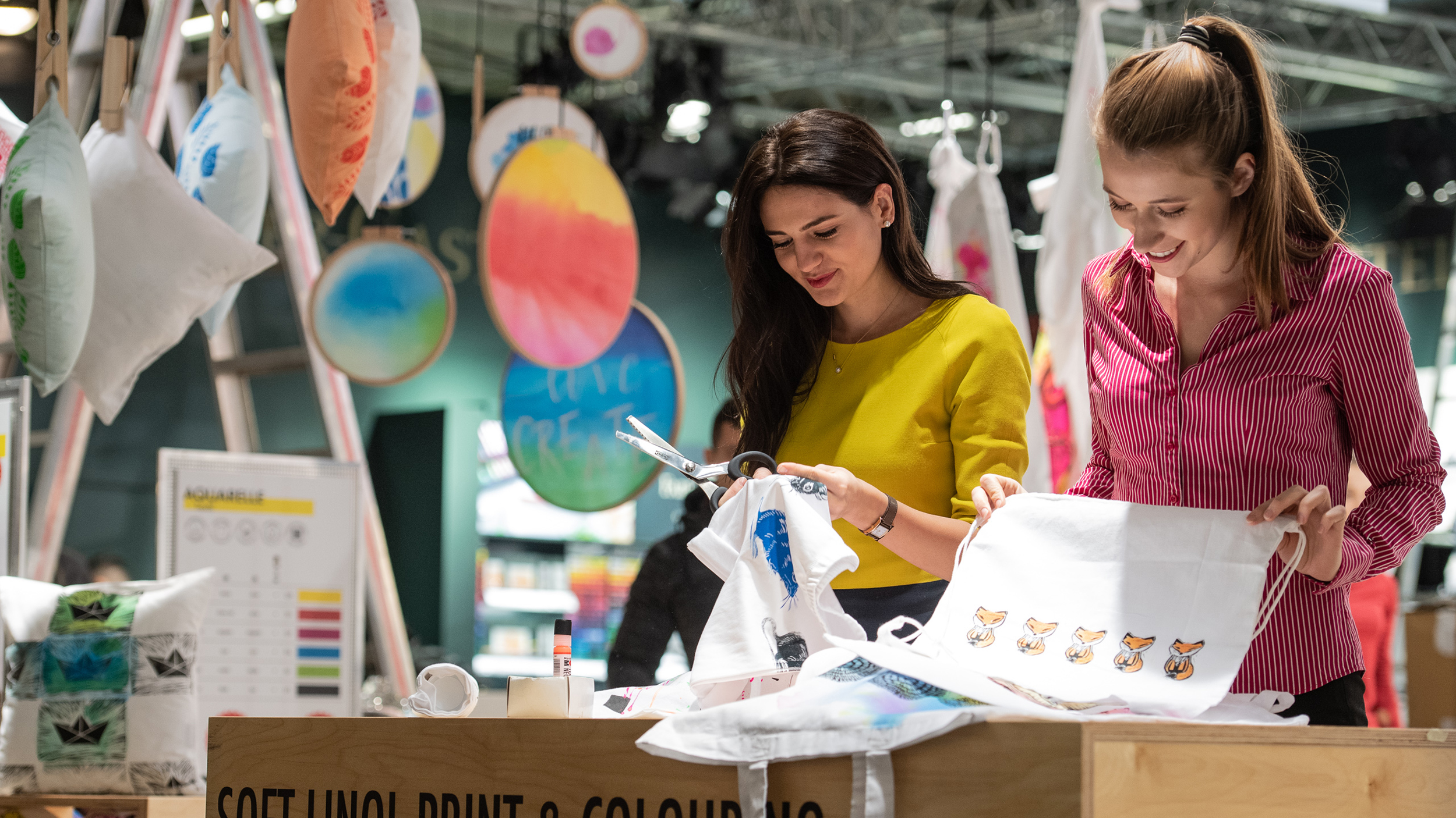 Visitors take a look at the latest craft trends at Creativeworld