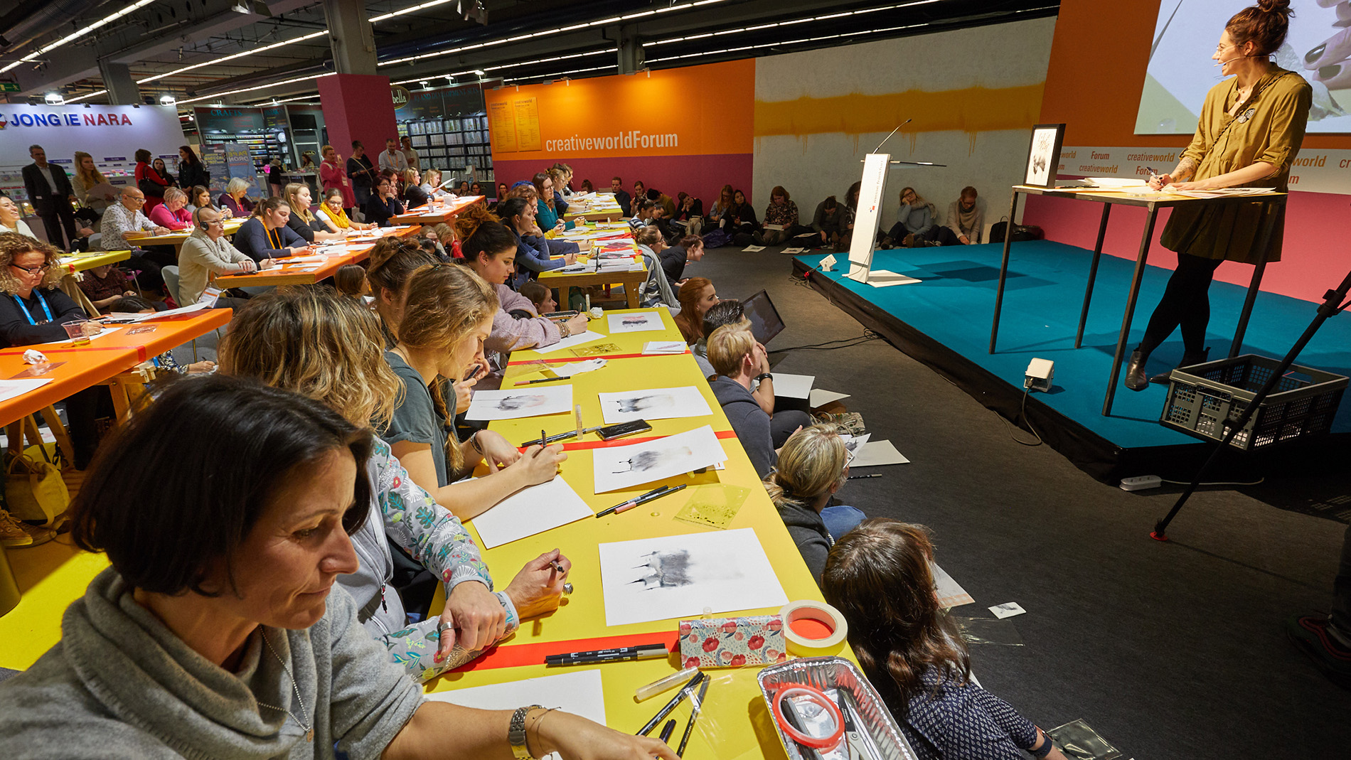 Creativeworld Academy – fully booked workshop with Ms. Hölle. Photo: Messe Frankfurt