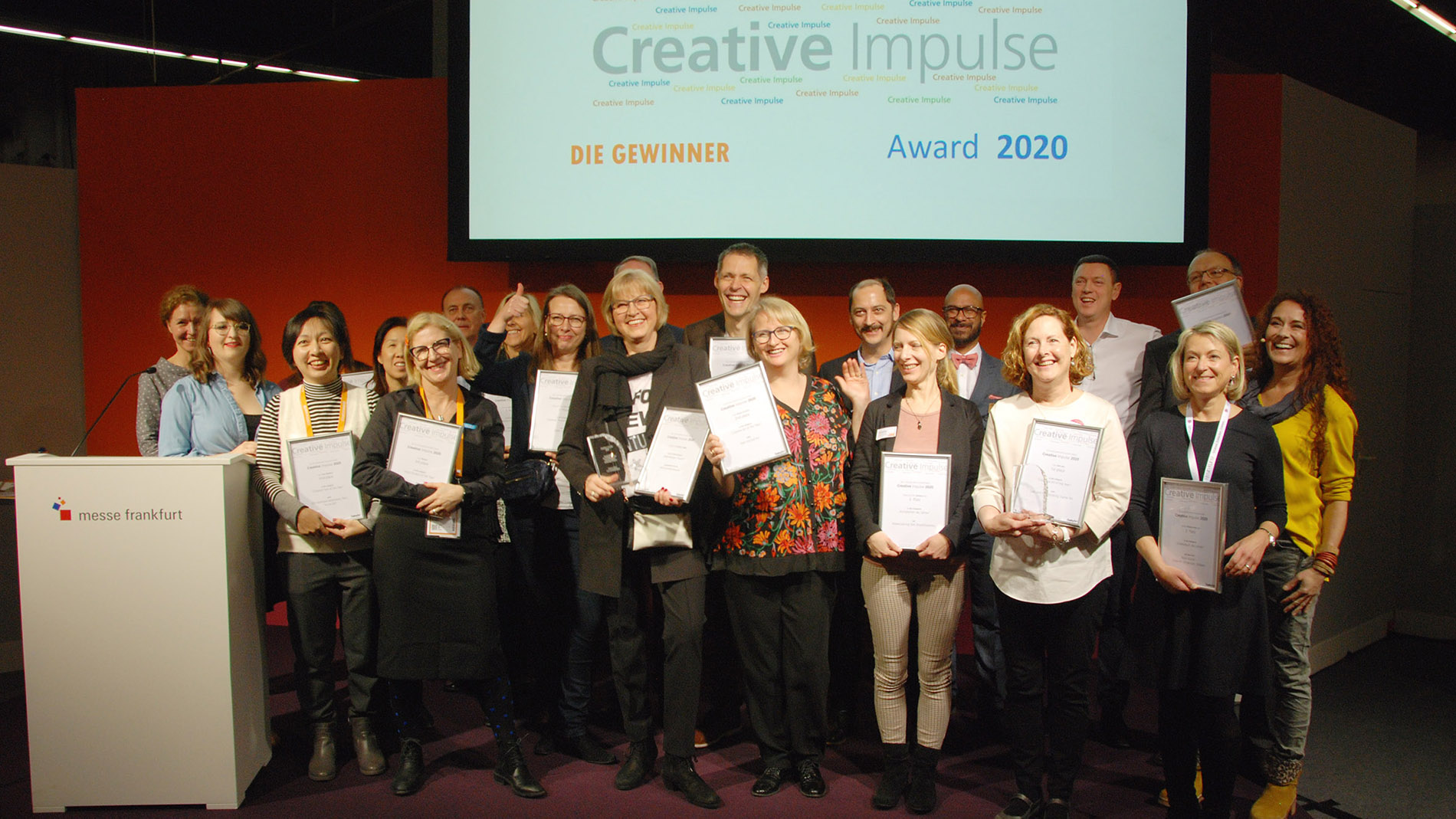 These are the 2020 winners of the Creative Impulse Award.
