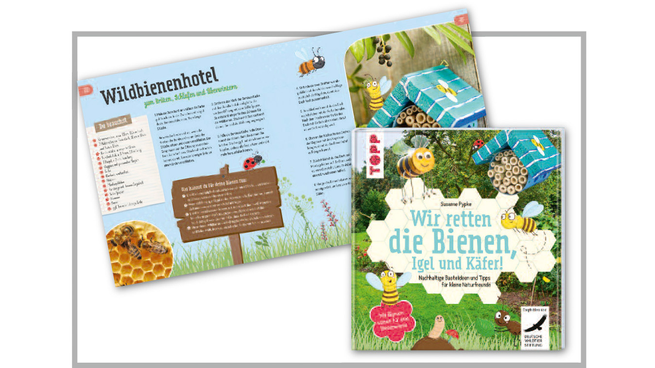 Creative Book of the Year: frechverlag 'We're saving the bees, hedgehogs and beetles!'