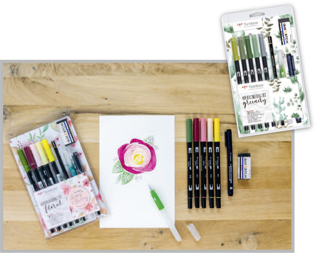 "Komplettset des Jahres / 3. Platz: Tombow ""Watercoloring Sets Floral/Greenery"""