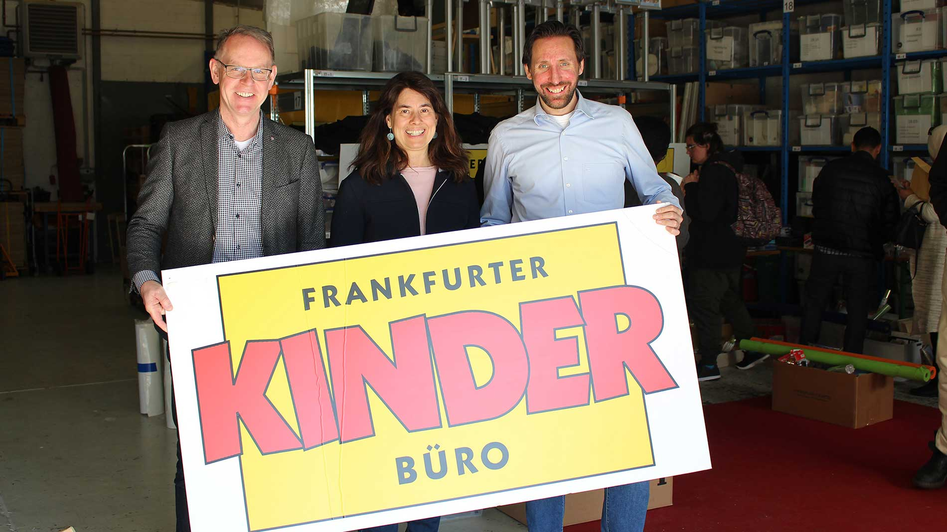 Michael Reichhold (Messe Frankfurt), Madeleine Michaelis (Kinderbüro), Christopher Huth (Messe Frankfurt) from left to right